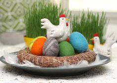 felted eggs - Ihan Kaikki Kotona