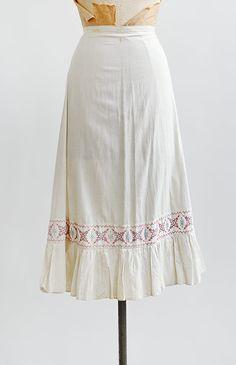 antique 1910s scandinavian embroidered petticoat skirt