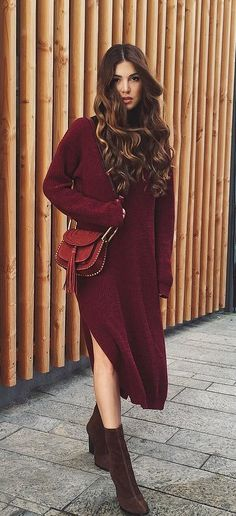 A Sweater Dress and Booties