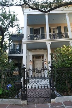 Beautiful home in the Garden District of New Orleans - It was built in 1857 for wealthy merchant Albert Brevard who lived there only two years before shooting himself over the house's tax assessment. The house was purchased in 1989 by Anne Rice. She set her Mayfair Witches books in the house, describing the halls, gardens and pool in great detail. She published its address and never made any attempt to hide where she lived and worked.