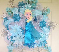 Disney Frozen Elsa Wreath by SparkleForYourCastle on Etsy, $189.00