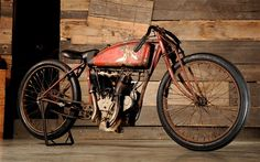 I think this is an Excelsior board track racer.    WILD HOT RAD