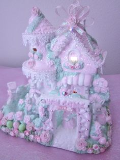 Shabby Lighted Easter House