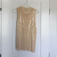 Michael Kors sequin top - new without tags Never been worn. Sequined front. No pulls or tears. Size small. Michael Kors Tops