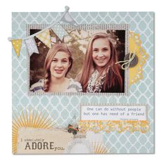 I Absolutely Adore You featuring new Sizzix Thinlits Dies - Scrapbook.com