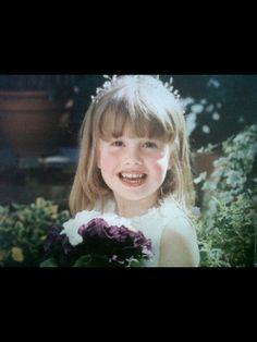 Me as a Bridesmaid when I was five in Kensington, London