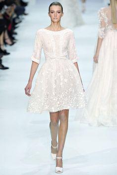 Elie Saab. white dress. waist.