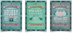 30 Christmas Holiday PSD & AI Flyer Templates