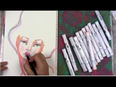 Drawing a whimsical Face using MEPXY Alcohol Markers.  with Jane Davenport. Not Copics but worth a look.