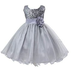 Zerototens Kids Girls Star Printed Flower Girl Princess Pageant Wedding Bridesmaid Birthday Party Formal Dress for 2-7 Years Old Kids