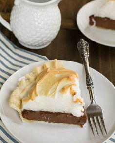 Old-Fashioned Chocolate Meringue Pie ***GF filling, make GF crust separately