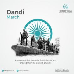 This day marks the beginning of Mahatma Gandhi's iconic Dandi March Dandi March..! #Surfica #Surficalam #Laminates #laminate #laminatescollection #LaminatesDesign #BestLaminates #LuxuryLaminates #LaminateCollection #LaminateSheet #DandiMarchDay #dandisatyagraha #dandi #DandiYatra #SaltMarch #mahatmagandhi Salt March, National Days, Group Of Companies, Mahatma Gandhi, Unity, Empire, Design