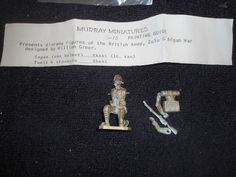 Murray #G-10 54mm British Army Zulu Afgan Soldier White Metal Military Figure #Murray