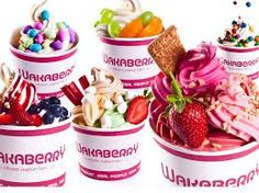 The endless flavour opportunities of Wakaberry Frozen Yogurt. Frozen Yoghurt, Yogurt, Fry S, Candy Store, Sugar And Spice, Food Truck, Vegetarian Recipes, Sweet Tooth, Sweet Treats