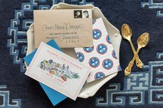 Taste of Tennessee / Watercolor map / custom invitation / Tenn Hens Design / Mary Craven Photography