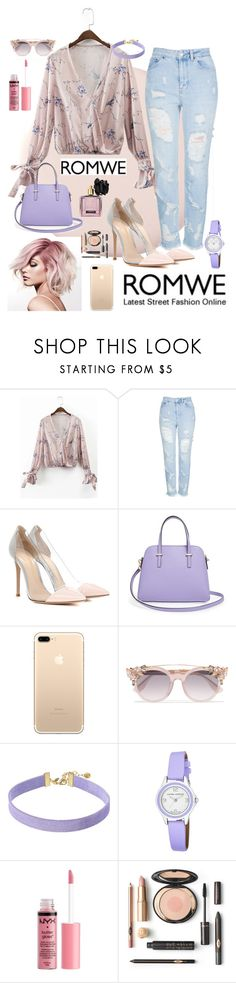 """""""Spring 🌷"""" by beautylv ❤ liked on Polyvore featuring Topshop, Gianvito Rossi, Kate Spade, Jimmy Choo, Vanessa Mooney, Laura Ashley, Charlotte Russe and Victoria's Secret"""
