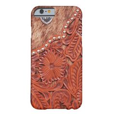Western Tooled Leather Look iPhone 6 Case