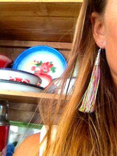 Tassle earrings #rainbowcolors #letoko #bali