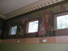 Dufferin St Clair Branch - August 2008 renovation - murals restored.