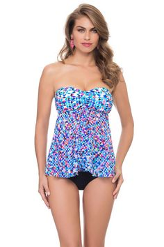 d79aa6c6b0fd4 Profile by Gottex s Pin Wheel Bandeau Tankini Top