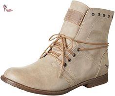 Mustang 1134-602-243, Bottes Femme, Blanc Cassé (Ivory), 40 EU - Chaussures mustang (*Partner-Link)