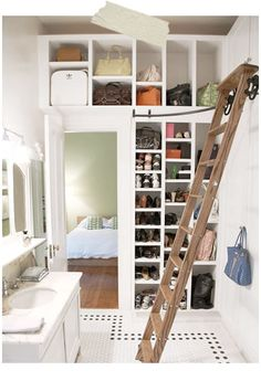Don't know about the bathroom... but would love the concept for a bedroom... or living room.