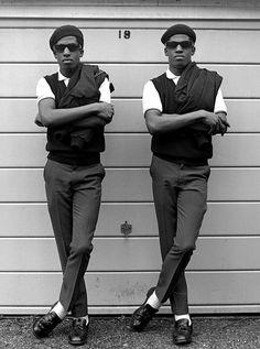 Rude boy twins Chuka and Dubem ,1981. (© janette beckman)