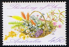 Australia 1992 Greetings Basket of Wild Flowers Stamp Fine Mint SG 1318 Scott 1234 Other Australian Stamps HERE