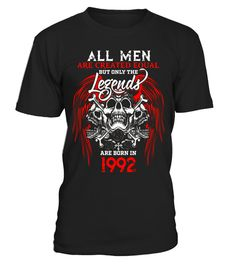 """# Legends born in 1992 25th Birthday 25 Years Old Awesome .  Special Offer, not available in shops      Comes in a variety of styles and colours      Buy yours now before it is too late!      Secured payment via Visa / Mastercard / Amex / PayPal      How to place an order            Choose the model from the drop-down menu      Click on """"Buy it now""""      Choose the size and the quantity      Add your delivery address and bank details      And that's it!      Tags: being totally, inest…"""