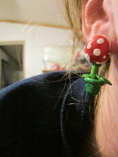 Piranha Plant earrings- Mario Kart