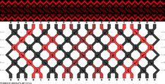 Friendship bracelet pattern 67122 - 20 strings, 5 colours