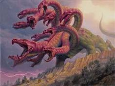 MtG Art: Mistcutter Hydra from Theros Set by Ryan Pancoast - Art of Magic: the Gathering Fantasy Dragon, Dragon Art, Creature Feature, Creature Design, Fantasy Creatures, Mythical Creatures, Hydra Monster, Snake Monster, Greek Mythological Creatures