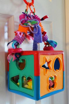 Forage Play Swing Fun Box for Sugar Gliders by PeppinsPlayPalace