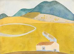Carlos Mérida (Guatemala, active Mexico, 1891-1984) Untitled (sin título), 1927  Watercolor, Watercolor on paper, 9 1/8 x 12 1/8 in. (23.2 x 30.8 cm)  The Bernard and Edith Lewin Collection of Mexican Art (AC1997.LWN.87)
