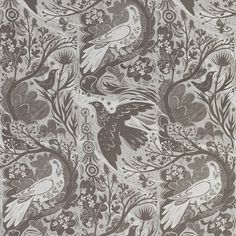 Doveflight By Mark Hearld in silver/grey