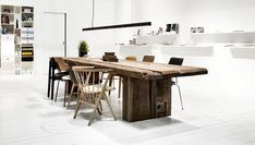 THORS Uniq long table in reclaimed antique wood. Every table is unique, made from rustic planks where the traces of history become design features