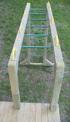 DIY Monkey Bars plans 1