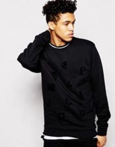 cheap monday mixed media sweatshirt  black #cheapmonday #designer #sweater #covetme