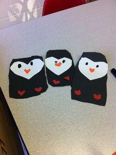 Heart penguins
