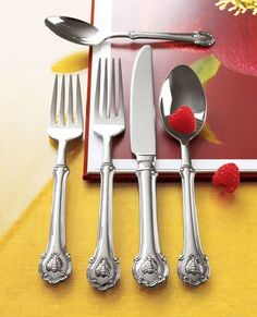 """45-Piece """"Napoleon Bee"""" Flatware Service set from Horchow. 174.90$"""