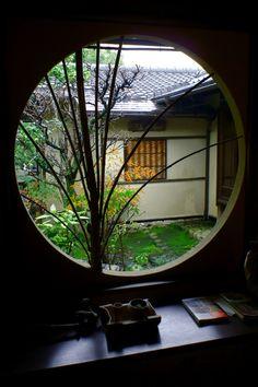 @盧花浅水荘 竹の間より 日本画家山元春挙の別荘庭園