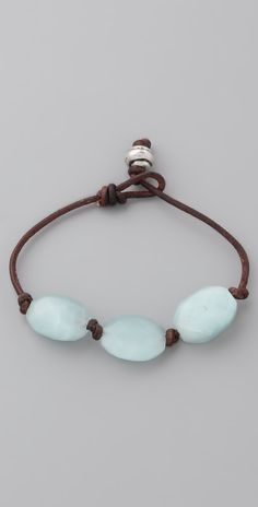 Club Monaco Seaglass & Leather Bracelet | SHOPBOP