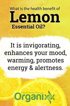 Did you know that essential oils can greatly improve your health? Lemon oil. promotes energy and alertness and enhances your mood. For more fantastic information about the benefits of lemon essential oil follow the link through!