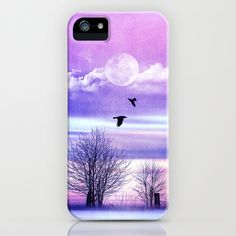 Purple winter iPhone Case by Viviana González - $35.00