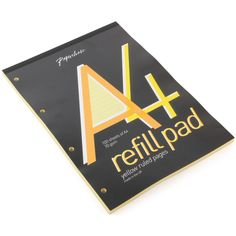 A4 yellow page refill pad