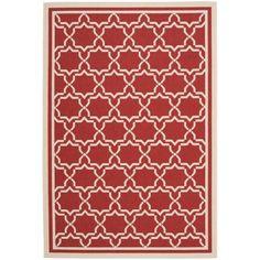 Safavieh Poolside Red/ Bone Indoor Outdoor Rug (5'3 x 7'7) - Overstock™ Shopping - Great Deals on Safavieh 7x9 - 10x14 Rugs