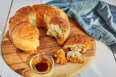 This easy, simple and triple-flavoured gluten-free bread recipe is perfect for serving with dips, spreads or simply enjoying on its own. Gluten Free Cakes, Gluten Free Recipes, Bread Recipes, Sous Vide Vegetables, Paprika Recipes, Savoury Biscuits, Great British Chefs, Sweet Pastries, Pesto Recipe