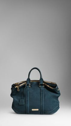 Large Luggage Suede Tote Bag | Burberry