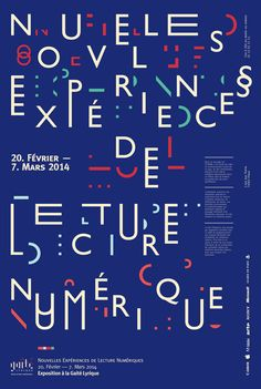 typeonly: Nouvelles Expériences, poster submitted and designed by Scott Renau –Type OnlyUnit Editions Poster Design, Graphic Design Posters, Graphic Design Typography, Graphic Design Illustration, Typo Poster, Typographic Poster, Cool Typography, Typography Letters, Japanese Typography