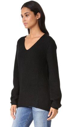 Three Dots Willa Slouchy V Neck Sweater